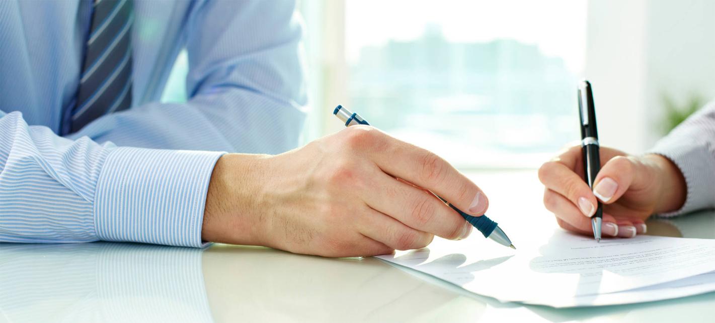 Assinatura de contrato